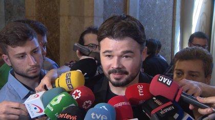 """Rufián se ríe sobre si confía en el apoyo del PNV: """"Confianza y PNV en una misma frase es complicado"""""""