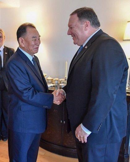 Pompeo se reúne con el enviado de Kim Jong Un en Nueva York para preparar la cumbre de Singapur