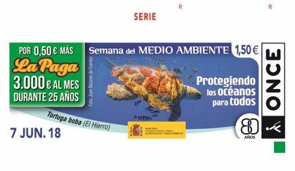 Canarias ilustra dos de los cupones de la ONCE dedicados a la Semana del Medio Ambiente
