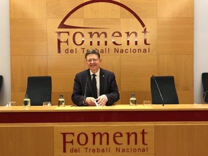 """Ximo Puig pide a Torra """"sumar esfuerzos"""" y defender juntos una mejor financiación"""