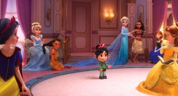Foto: Ralph rompe Internet... con su genial reunión de princesas Disney