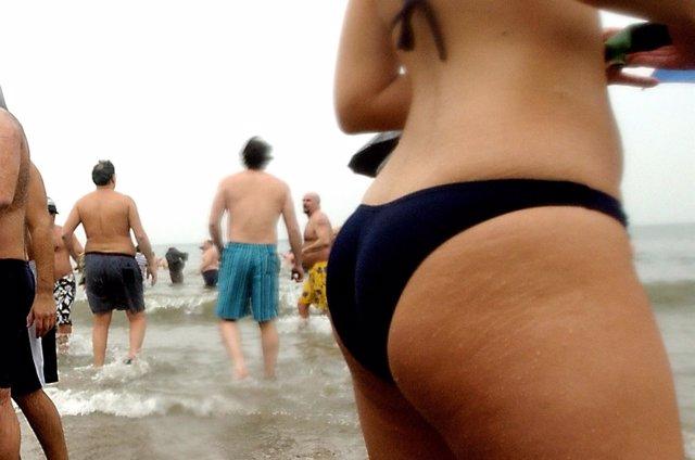 Playa y una con celulitis