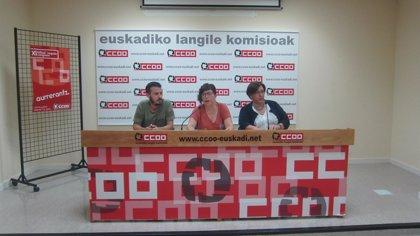 CCOO demandará al Gobierno Vasco y a Confebask por vulnerar la libertad sindical