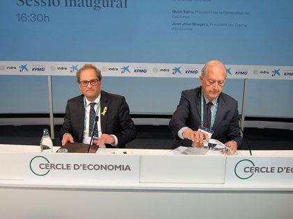 """Círculo.- Quim Torra: La sólida economía catalana desmiente """"a los que auguraban catástrofe"""""""