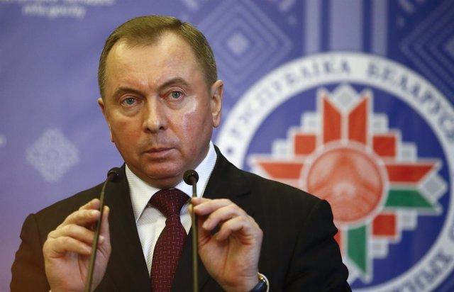 El ministro de Asuntos Exteriores de Bielorrusia, Vladimir Makei.