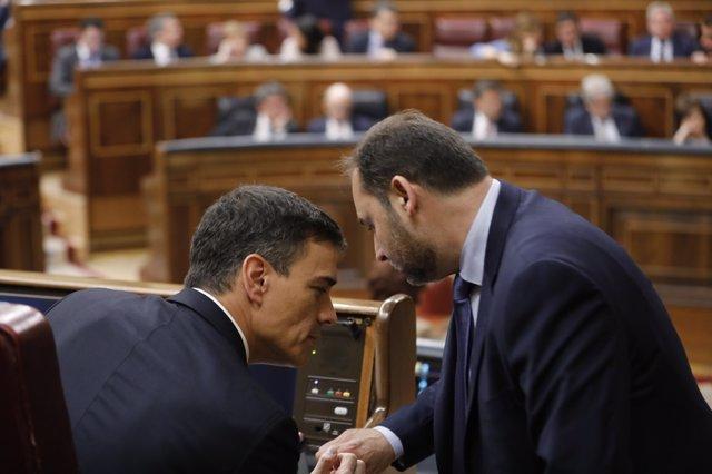 Pedro Sánchez en la moción de censura del Congreso