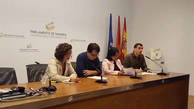 Laura Pérez, Carlos Couso, Fanny Carrillo y Rubén Velasco.
