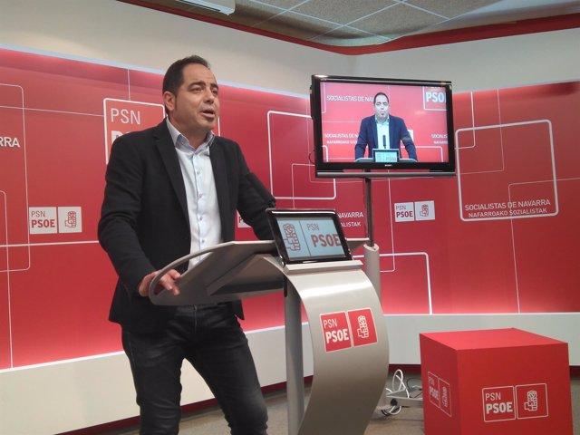 El secretario de Organización del PSN, Ramón Alzórriz