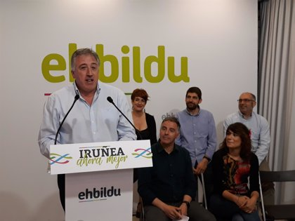 Joseba Asiron repetirá como candidato de EH Bildu a la Alcaldía de Pamplona en las elecciones municipales de 2019