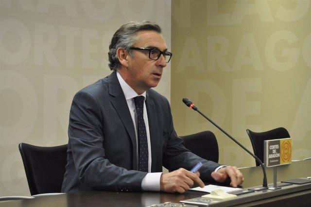 Luis María Beamonte, presidente del PP en Aragón