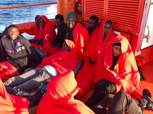 Inmigrantes rescatados esta semana en Tarifa por Salvamento Marítimo