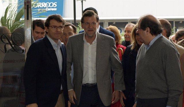 Rajoy en una de sus visitas a Salamanca junto a Fernández Mañueco