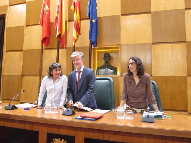 El alcalde de Zaragoza, en el pleno