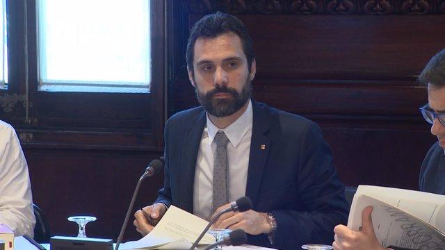 Roger Torrent, preside la Mesa del Parlament
