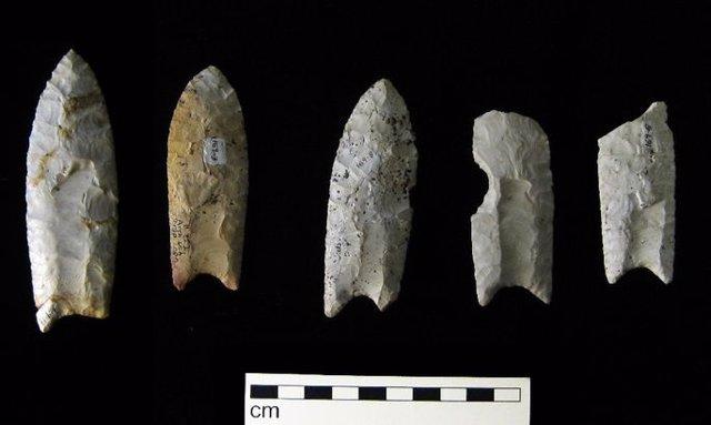 Puntas de lanza de la cultura Clovis