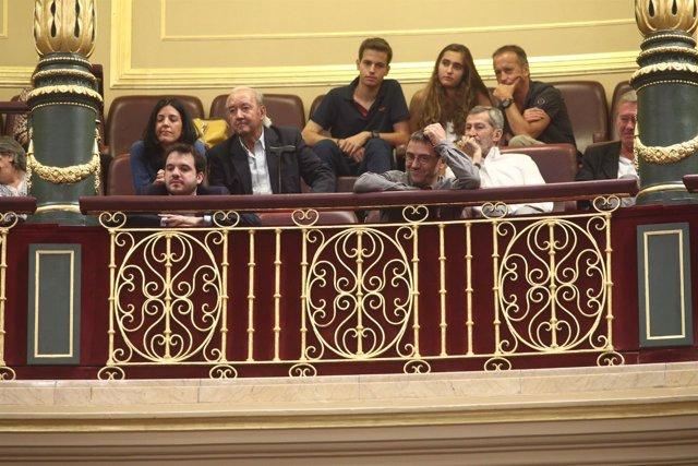 Juan Carlos Monedero en el debate de la moción de censura