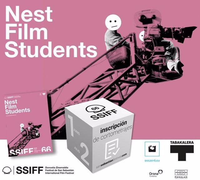 Cartel de Nest Film Students del Festival de San Sebastián