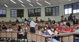 Alumnos en la Universidad de Extremadura