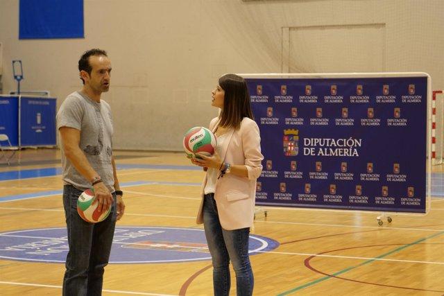 Prenafeta y Ángeles Martínez tras la presentación del campus