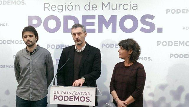 Javier Sánchez, Oscar Urralburu y María Giménez