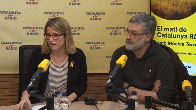 Elsa Artadi Carles Riera declaran sobre la investidura de Jordi Sánchez