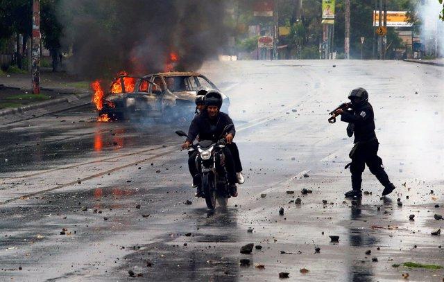 Protestas en Managua (Nicaragua)