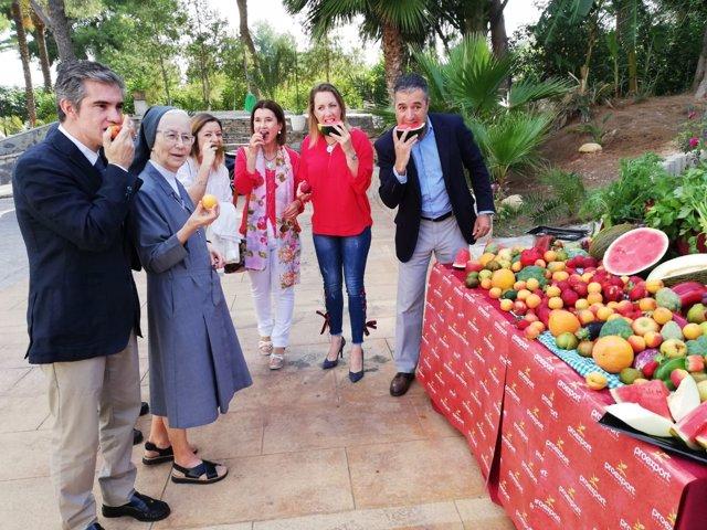 Del Amor, durante la presentación del Programa de consumo de frutas y hortalizas
