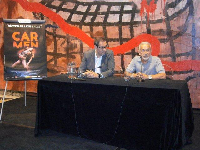 Rueda de prensa presentación de 'Carmen' con Víctor López y Víctor Ullate.