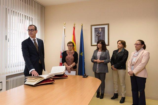 Toma de posesión de Benigno Caviedes como nuevo gerente del SCS