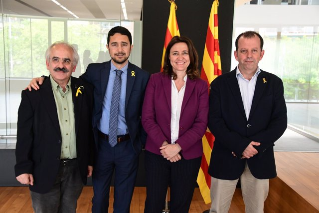 Mercè Conesa, Damià Calvet, Joan Puigdoménech y Carles Brugarolas