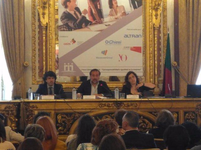 Mario Garcés, Ángel Asensio y Celia Mayer