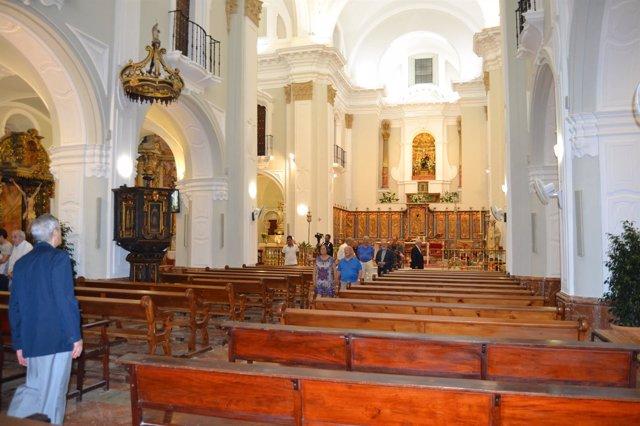 Nueva iluminación en la catedral de Huelva.
