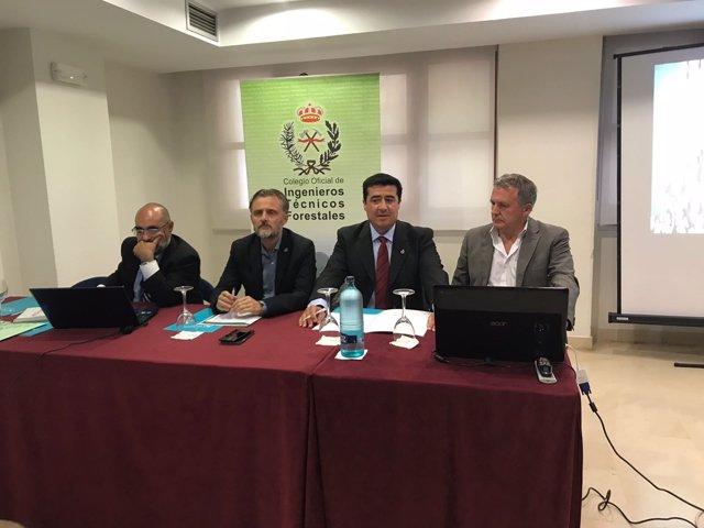 Asamblea anual del Colegio Nacional de Ingenieros en Huelva.