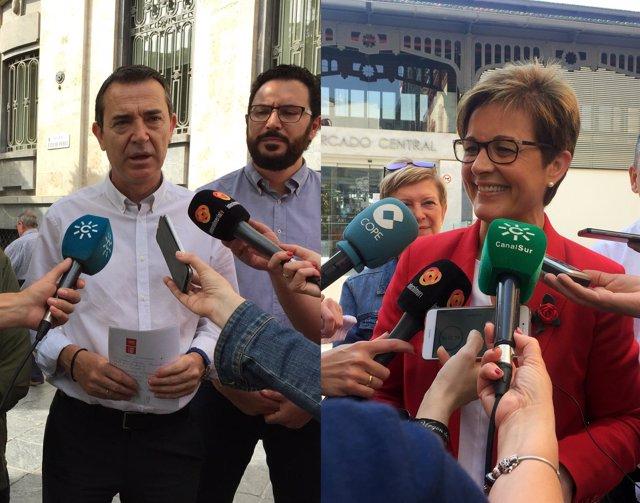 Juan Carlos Pérez Navas y Adriana Valverde (PSOE)