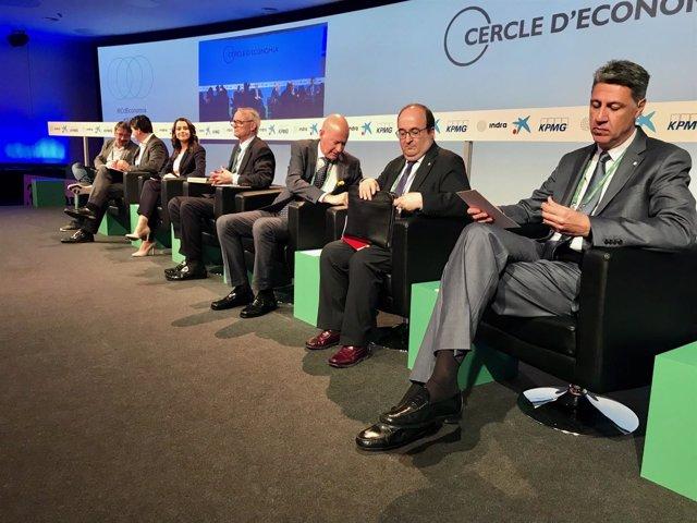 Domènech, Arrimadas, Costas, García Albiol, Sabrià, Font e Iceta