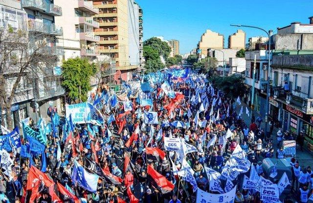 Marcha Federal por Pan y Trabajo en Argentina