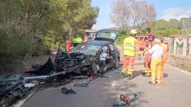 Accidente de tráfico en Sagunt