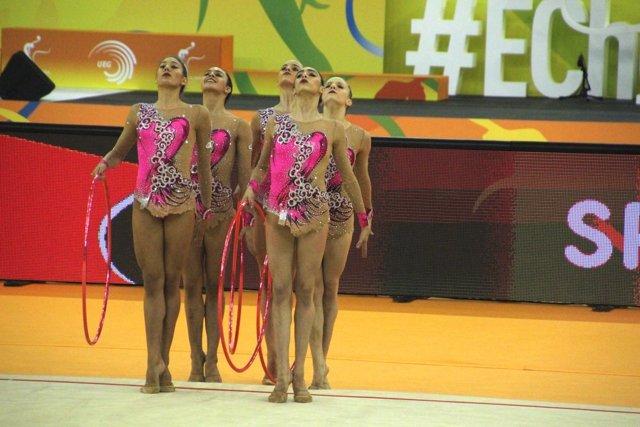 Equipo español gimnasia rítmica Europeo Guadalajara