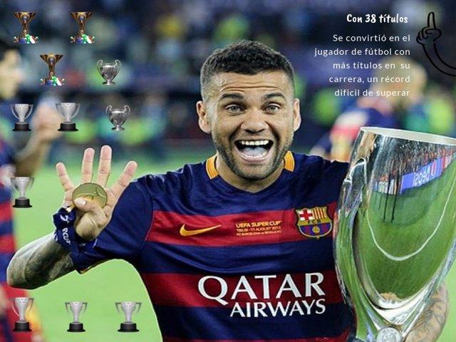 Daniel Alves, jugador con más títulos en su carrera