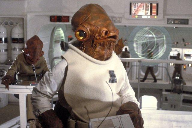 El Almirante Ackbar en Star Wars