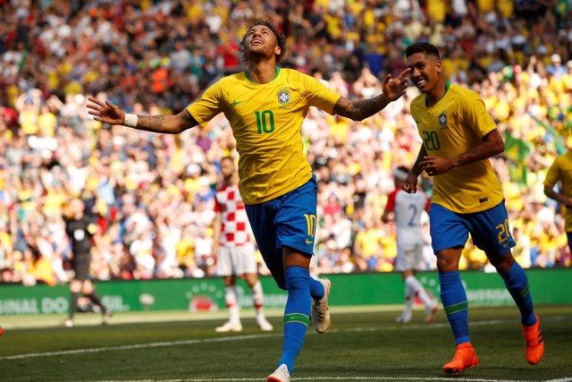 Neymar Firmino Brasil Croacia