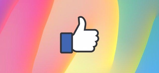 Reacción Me Gusta de Facebook