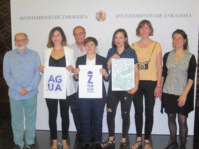 Presentación del logo de la campaña 'En Zaragoza, mejor del grifo'