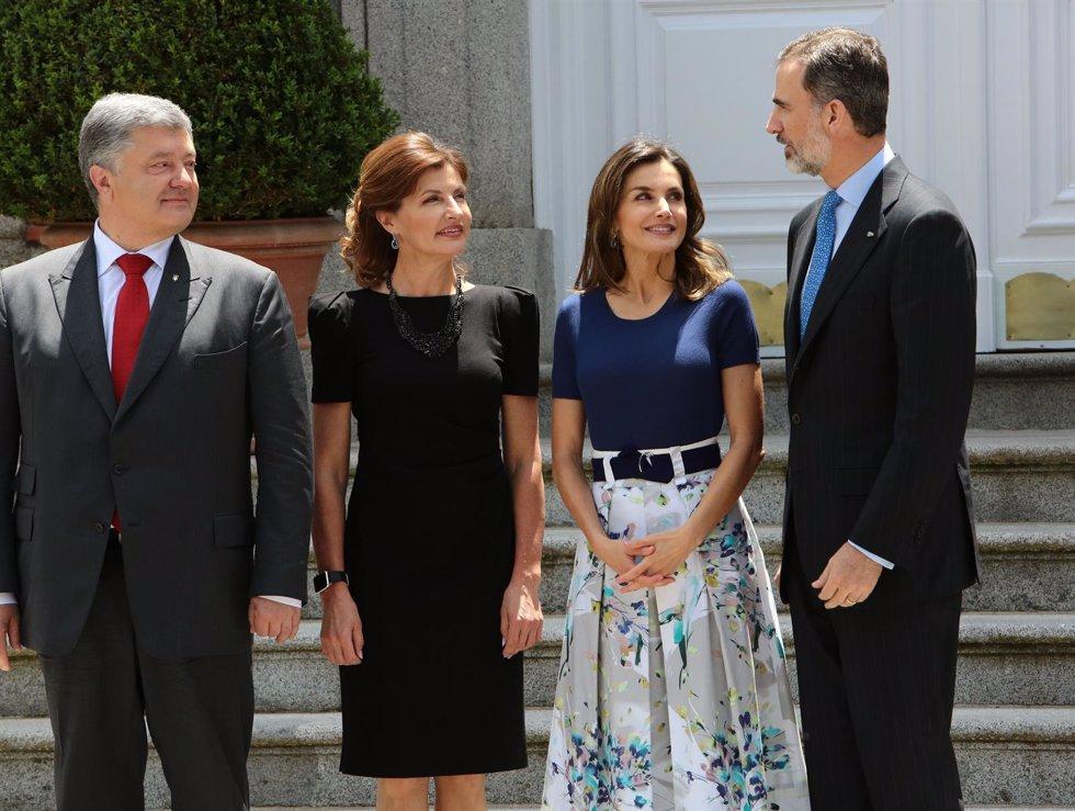Los reyes reciben al presidente de ucrania en la zarzuela