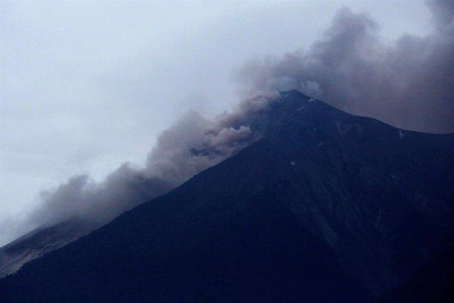 Erupción del Volcán del Fuego en Guatemala