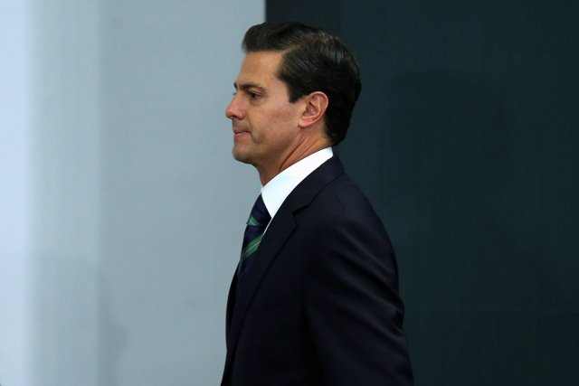 Mexico's President Enrique Pena Nieto takes part during an event to recognize th