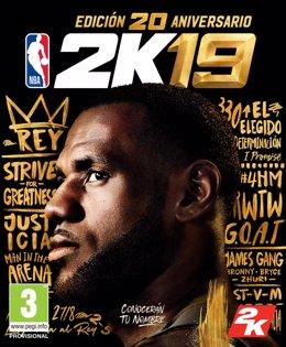LeBron James, protagonista de  portada de la Edición 20 Aniversario de NBA 2K19