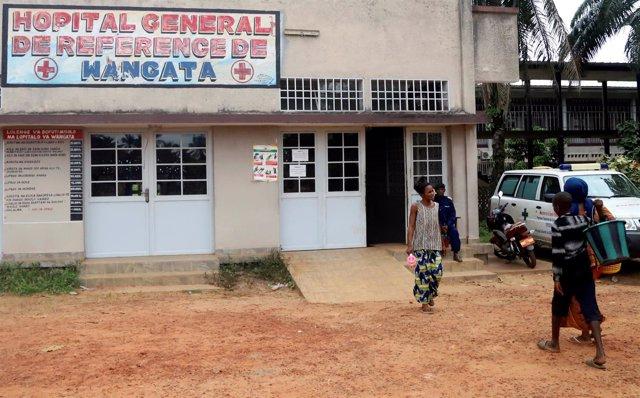 Hospital de Mbandaka, una de las zonas afectadas por el brote de ébola en la RDC
