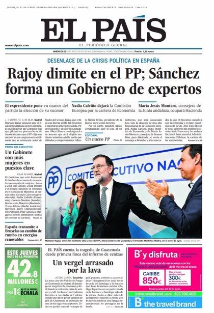 Las portadas de los periódicos de hoy, miércoles 6 de junio de 2018