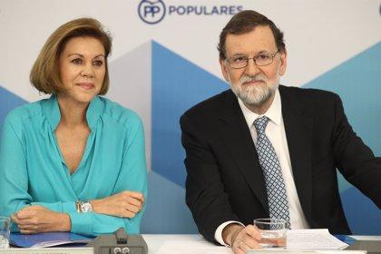"""Cospedal no aclara si competirá en la sucesión de Rajoy y añade: """"Haré lo que sea mejor para mi partido"""""""